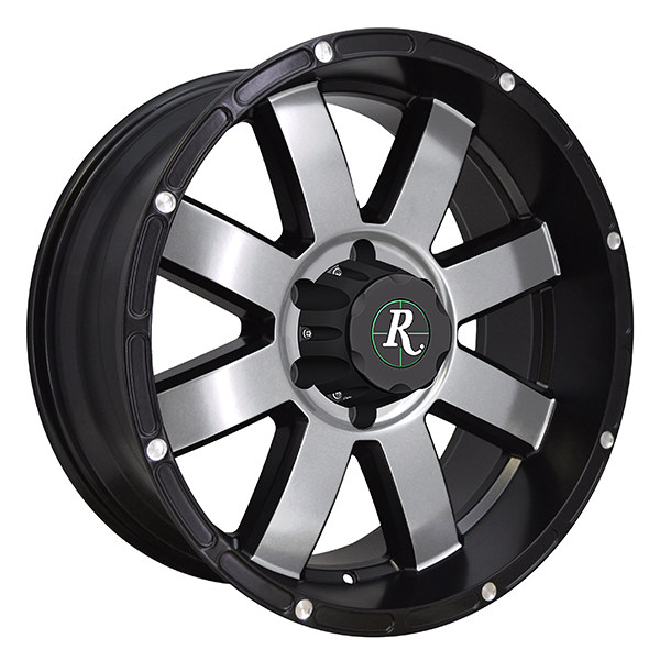 "8 POINT  Satin Black Machined (Truck/Offroad) 20 x 9""  Satin Black Machined (ATV/UTV) 12 x 7"" 14 x 7"""