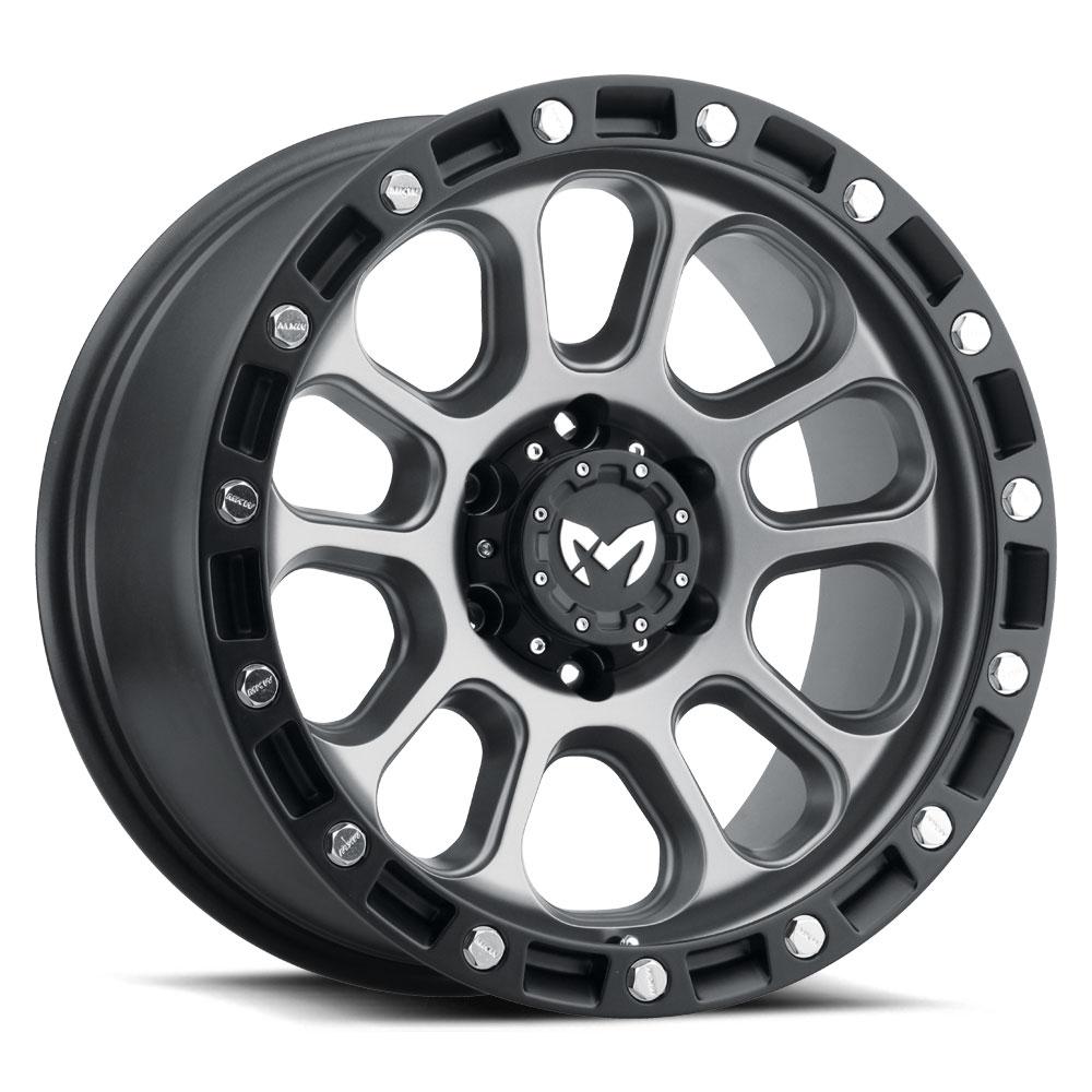 M204 6h Matte grey center matte black ring
